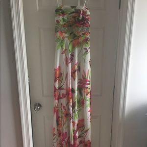 Cache Floral Formal Dress